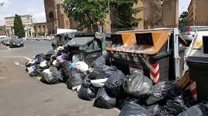 Sciopero rimozione rifiuti a Roma