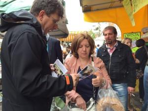 il sen. Roberto Cociancich in viale Papiniano