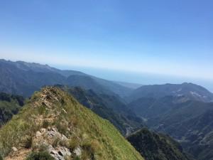 Il crestone sud del Monte Cavallo