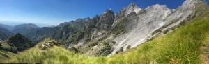 Panorama dalla cresta sud del Monte Cavallo