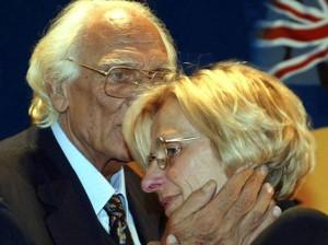 Marco Pannella con Emma Bonino negli anni '80