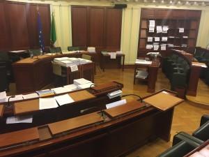 L'aula della Commissione Lavoro del Senato