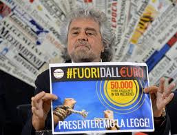 Grillo contro l'euro 2