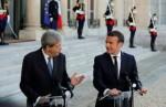 Emmanuel Macron e Paolo Gentiloni nei giorni scorsi a Roma